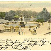 New York: Tinted Vintage Postcard from 1898