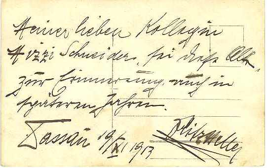 Fritz Heller Autograph. Austrian Actor 1913