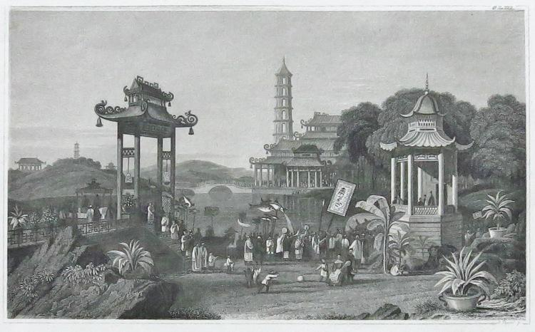 The Imperial Summer Palace: Etching from 19th Century