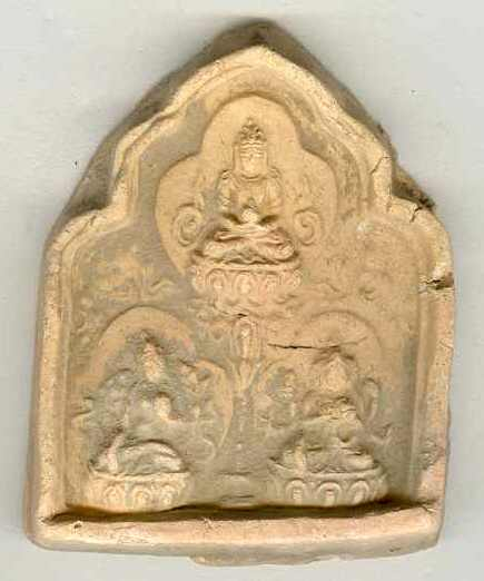 18 – 19th Century: Old Buddhist token, earthenware.