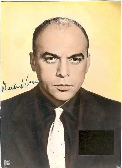 Herbert Lom Autograph. CoA + Letter