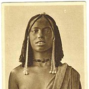 African Beauty: Vintage Postcard