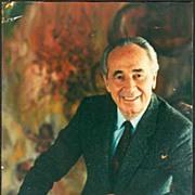 Shimon Peres Autograph. Authentic Signature on Photo. CoA