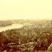 ca. 1888: Authentic larger Albumen Photo of a Village in Saigon