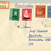 Olympic Games 1956. German Democratic Republic. Cover