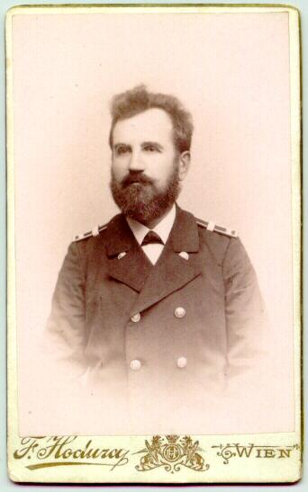 Old Cabinet photo of a Rairoadman in Uniform