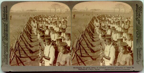 1904: Japanese Soldiers preparing for Invasion of Manchuria.