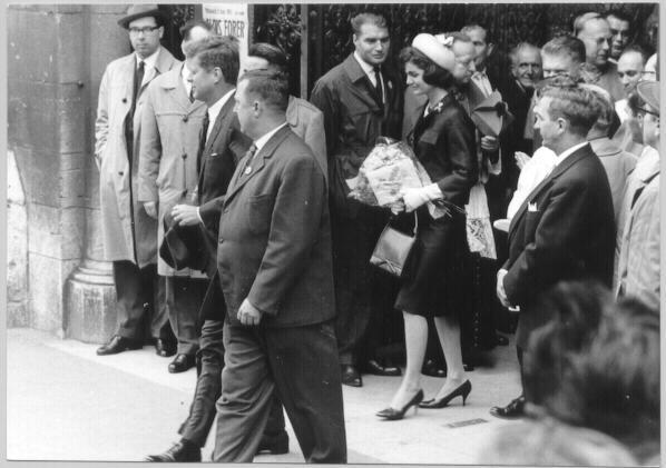 John F. Kennedy and Jackie Kennedy in Austria.