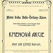 1907, Czechoslovakina Railway Share - Art Nouveau Design