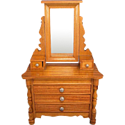 """Antique German Schneegas Dollhouse Dresser with Swivel Mirror Late Victorian Large 1"""" Scale"""