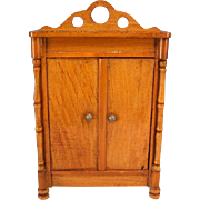 "Antique German Dollhouse Schneegas Wardrobe Late Victorian Medium to Large 1"" Scale - Red Tag Sale Item"