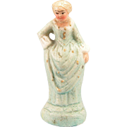 "Miniature Bisque Figurine Early 1900s Large 1"" Scale"