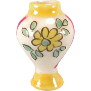 "French Porcelain Dollhouse Urn Shaped Vase 1920s – 1930s Small 1"" Scale"