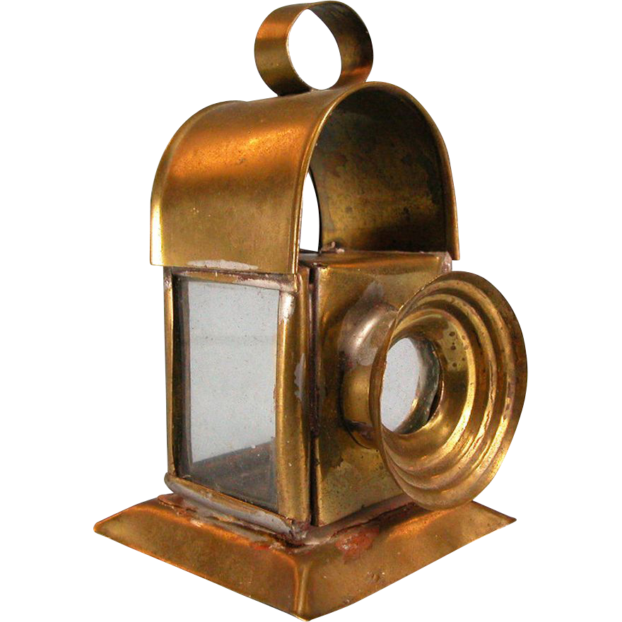 "Antique German Dollhouse Brass Lantern 1880s – 1900s Large 1"" Scale"