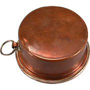 "Antique German Dollhouse Copper Pot with Ring Handle 1880s – 1900s Large 1"" Scale"