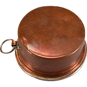 """Antique German Dollhouse Copper Pot with Ring Handle 1880s – 1900s Large 1"""" Scale"""