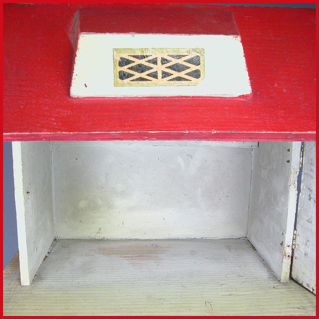 German Wooden Red Roof Dollhouse 1920s 1 2 Quot Scale From