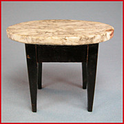 "Antique German Dollhouse Biedermeier Marble Top Table 1850s – 1870s 1"" Scale"