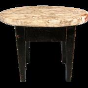 """Antique German Dollhouse Biedermeier Marble Top Table 1850s – 1870s 1"""" Scale"""