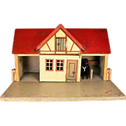 "Gottschalk Red Roof Stable with Living Quarters & Loft Early 1900s 3/4"" Scale"