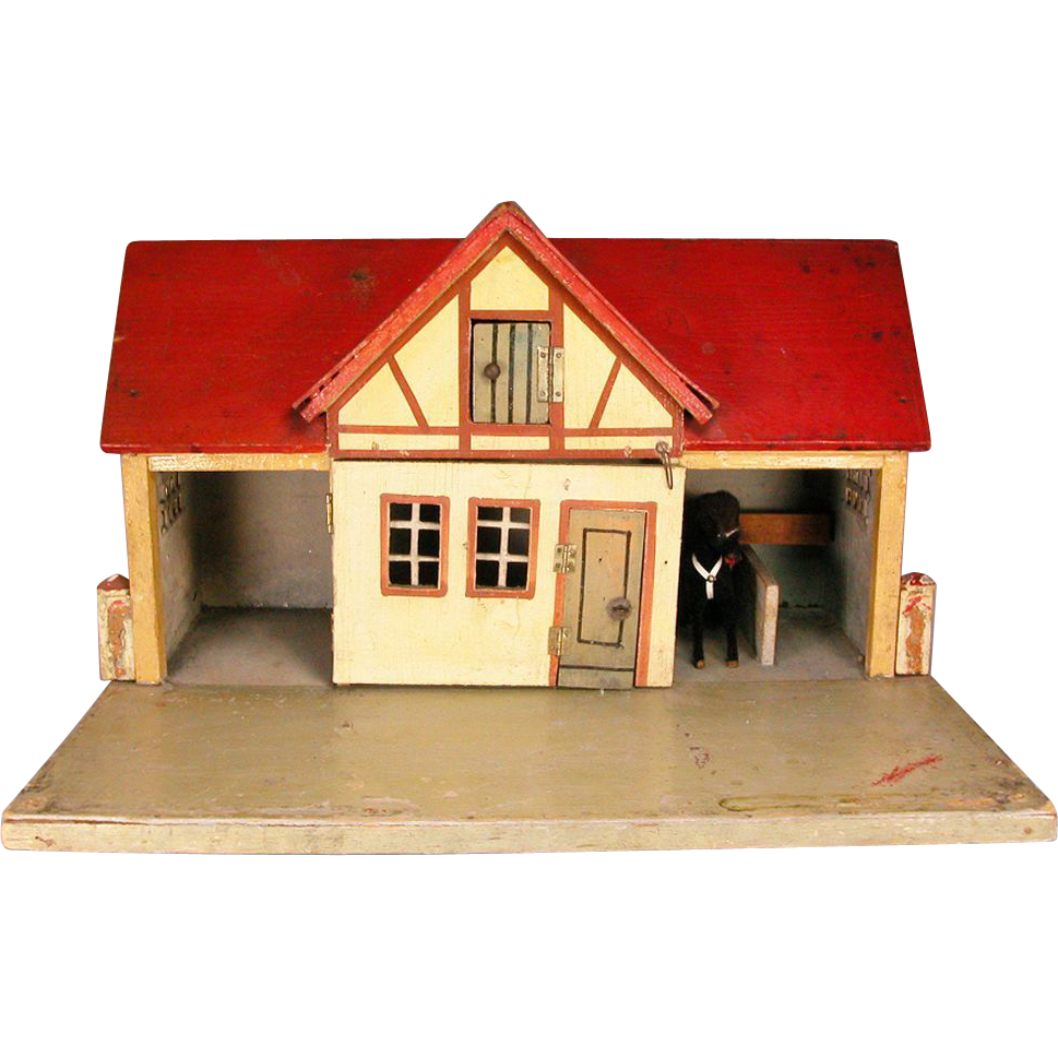 Gottschalk red roof stable with living quarters loft early for Living quarters loft