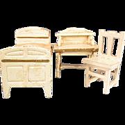 """Gottschalk Bed, Desk & Chair 1910 – 1920s 3/4"""" Scale"""