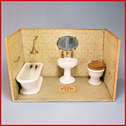 "Dolly's Bath Room from the Atlanta Toy Museum Early 1900s Large 1"" Scale"