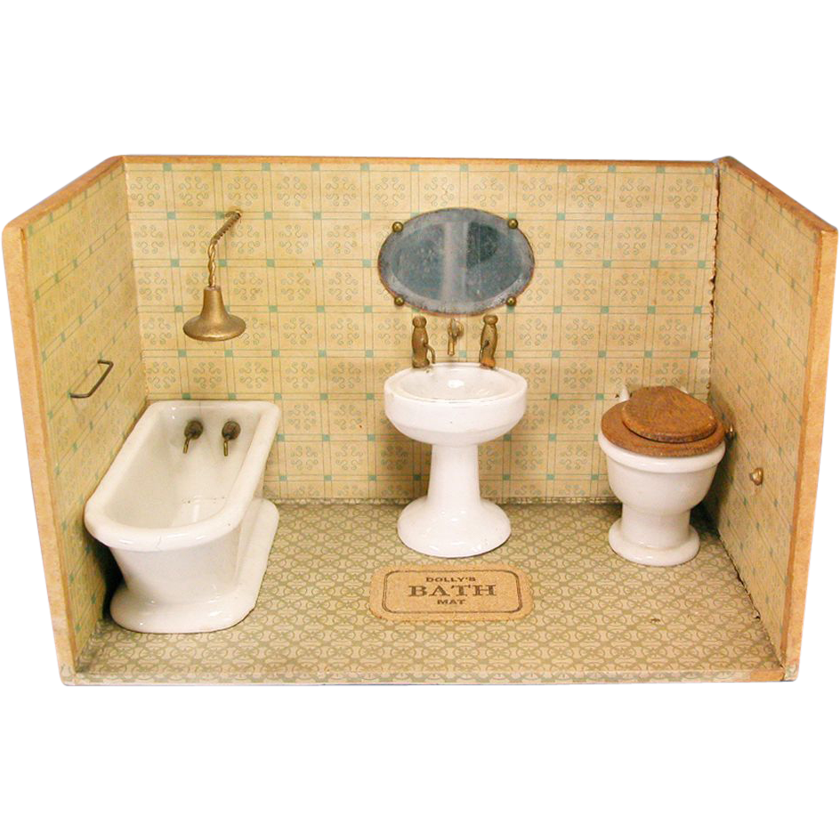 Dolly 39 S Bath Room From The Atlanta Toy Museum Early 1900s Large 1 F
