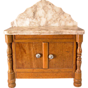 "Antique German Dollhouse Schneegas Marble Top Washstand Late 1800s 1"" Scale"