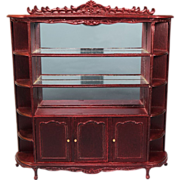 """Dollhouse Miniature China Cabinet by Bespaq Late 1980s 1"""" Scale"""