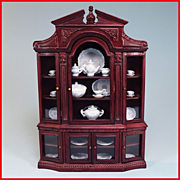 "Dollhouse China Cabinet by Bespaq Early 1990s 1"" Scale"