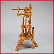 "Vintage Dollhouse Miniature Spinning Wheel – Castle Style 1"" Scale"