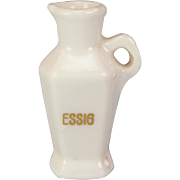 Antique German Porcelain Vinegar Jar for the Doll Kitchen Early 1900s