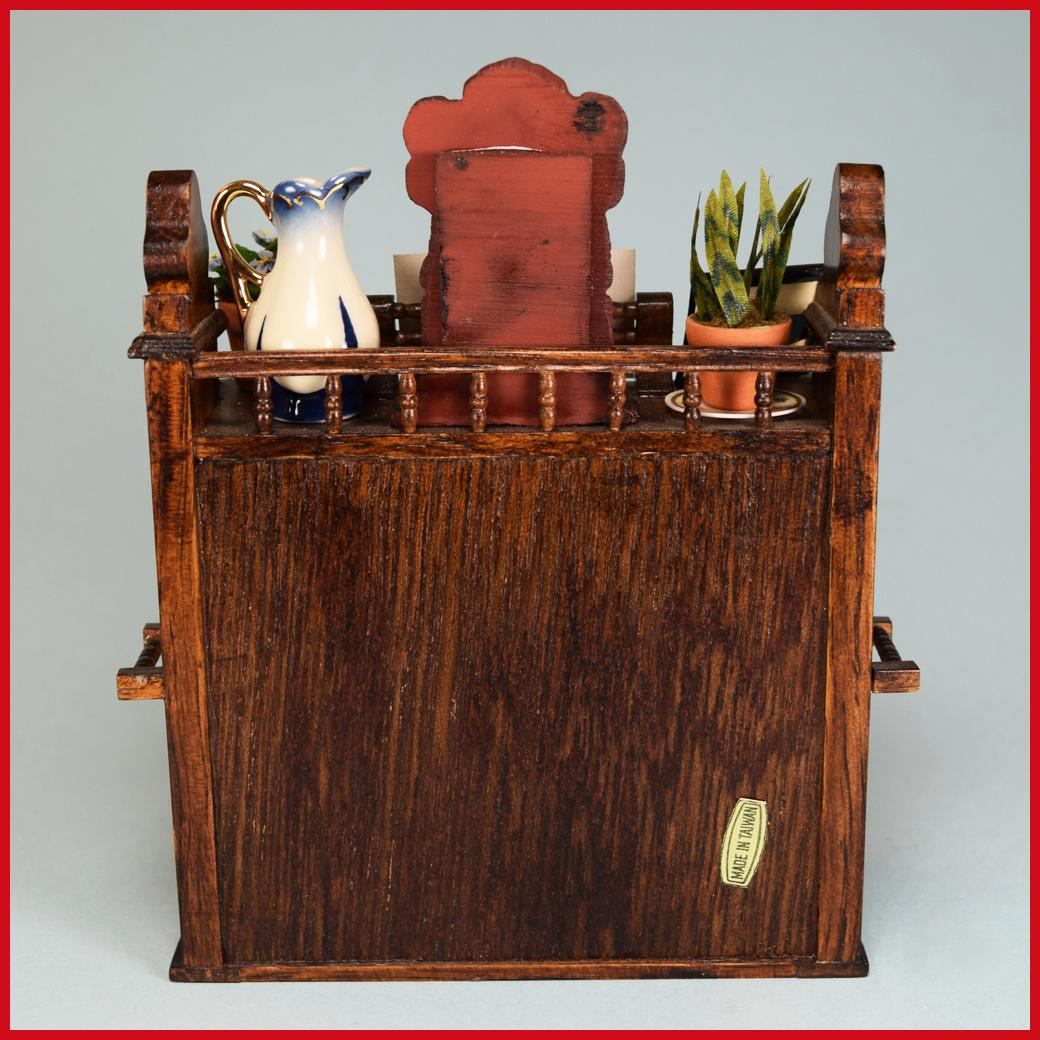 Wooden Dollhouse Miniature Piano Stool Amp Accessories