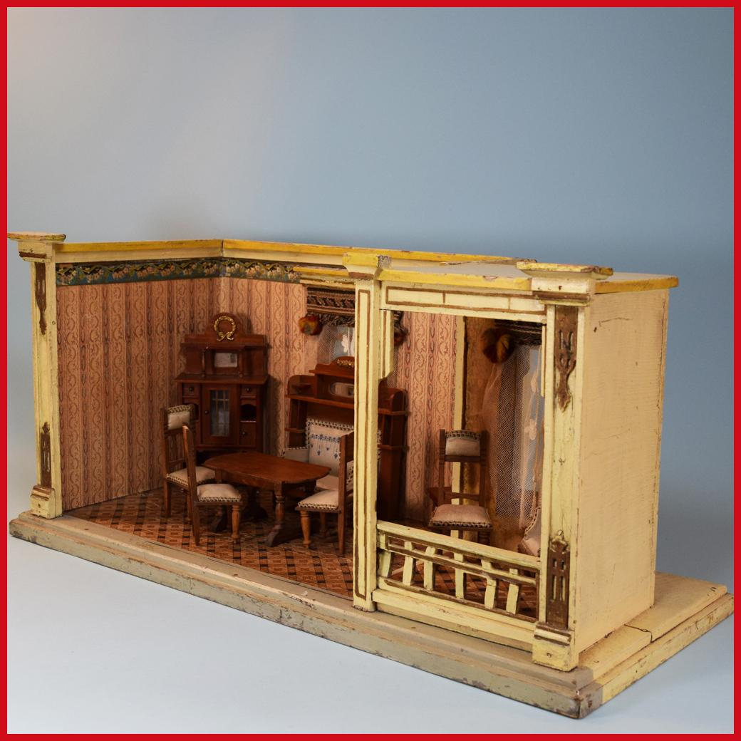 Antique German Miniature Gottschalk Double Room Box Early 1900s 1 ...