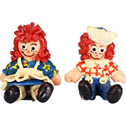 "1/2"" Fimo Clay Raggedy Ann and Any Dolls Early 1990s 1"" Scale - Red Tag Sale Item"