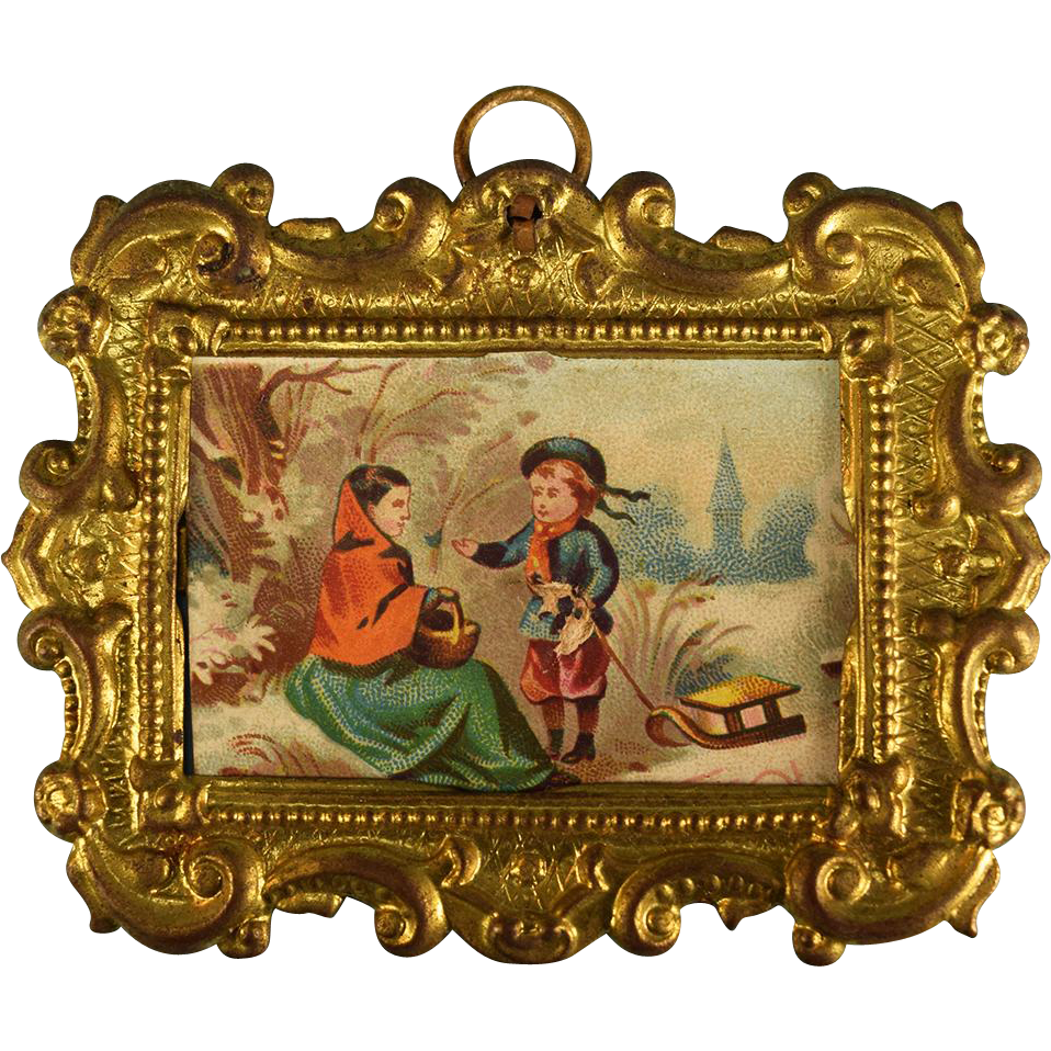 Antiques Collectibles: Erhard And Son Miniature Antique Ormolu Picture Frame With