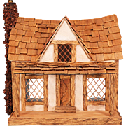 "Artisan Miniature Stucco and Wood Dollhouse Early 1990s 1/4"" Scale"