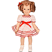 "14"" Porcelain Shirley Temple Doll Danbury Mint Stand Up and Cheer with Box 1986"