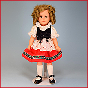 "15"" Ideal Vinyl Shirley Temple Doll Heidi Outfit"