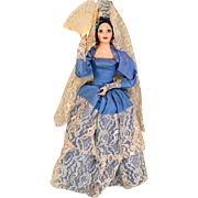 "13"" Spanish Lady Ethnic Doll - Hard Plastic 1960s - 1970s"