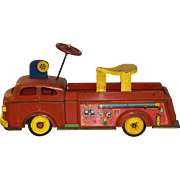 Wyandotte Ride On Fire Engine / Fire Truck Pressed Steel Toy 1950s