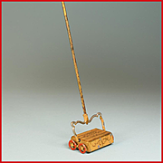 "Antique German Dollhouse Cast Metal Carpet Sweeper 1910 Large 1"" Scale"