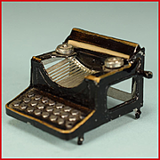 "Vintage Dollhouse Typewriter 1920s – 1930s Large 1"" Scale"