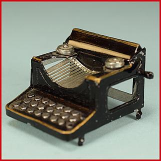 "Vintage Dollhouse Typewriter 1920s – 1930s Large 1"" Scale"