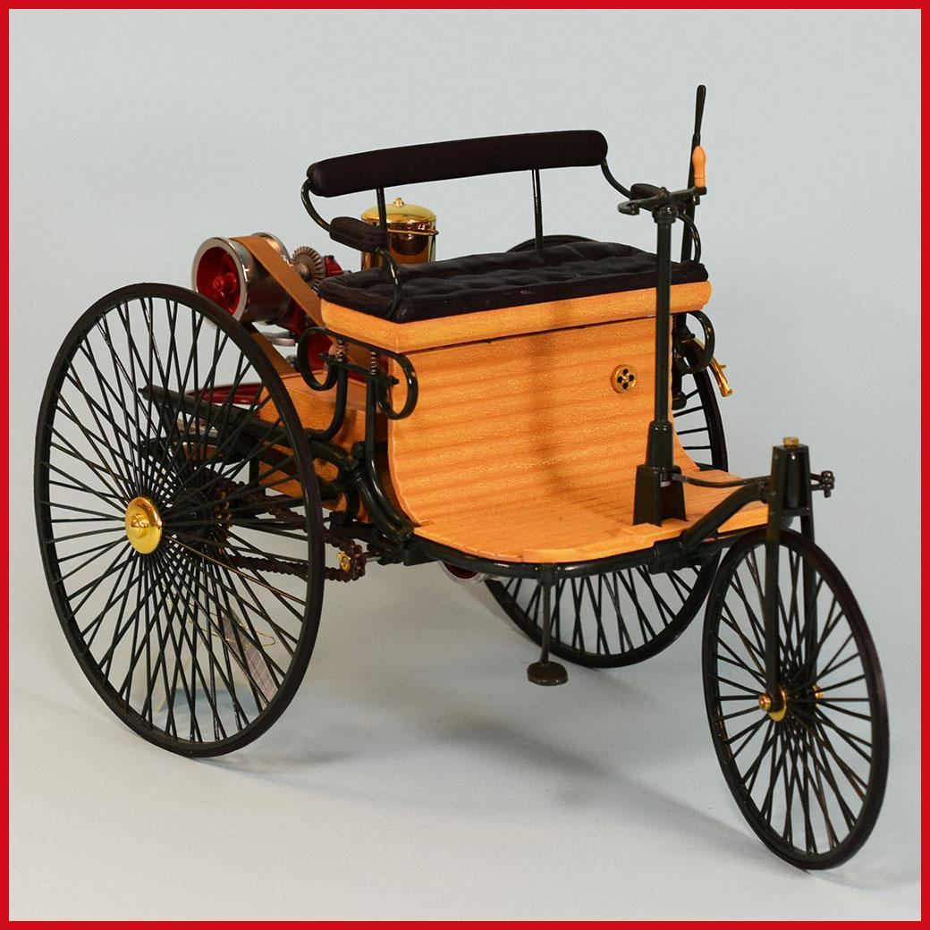 The World S First Automobile The Benz Patent Motorwagen: Franklin Mint 1886 Benz Patent Motorwagen Horseless