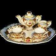 """Occupied Japan Dollhouse Porcelain Tea Set by Chubu  China Large 1"""" Scale"""