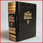 Barbara Raheb Miniature Book HOLY BIBLE 111 Pages