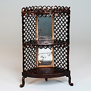 "Antique German Dollhouse Corner Display Cabinet by Rock and Graner Mid 1800s Large 1"" Scale"