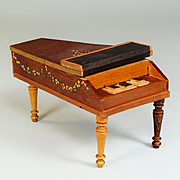 "Antique German Dollhouse Baby Grand Piano by Schneegas 1840s – 1860s 1"" Scale"